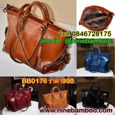 กระเป๋าหนังสะพายข้างถอดสายถือได้แฟชั่นเกาหลี นำเข้า พรีออเดอร์BB0176