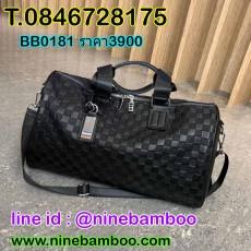 กระเป๋าเดินทางไปเที่ยวฟิตเนสสะพายและถือสายยาวได้ใบใหญ่แฟชั่น นำเข้า สีดำ - พรีออเดอร์BB0181 ราคา3900บาท