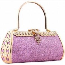 กระเป๋าออกงาน สวยในงานราตรีแฟชั่นเกาหลี นำเข้า สีม่วงอ่อน - พร้อมส่งAP2540 ราคา1500บาท