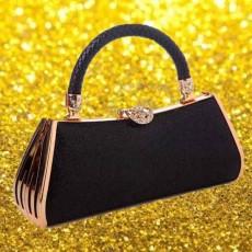กระเป๋าคลัชออกงาน แฟชั่นเกาหลีหรูหราเข้าชุดราตรีสีสวย นำเข้า สีดำ - พร้อมส่งAP2541 ราคา1900บาท