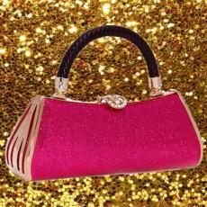 กระเป๋าคลัชออกงาน แฟชั่นเกาหลีหรูหราเข้าชุดราตรีสีสวย นำเข้า สีชมพู - พร้อมส่งAP2541 ราคา1900บาท