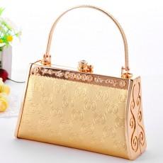 กระเป๋าคลัชออกงาน กระเป๋าถือผู้หญิงแฟชั่นเกาหลีหรูหราเข้าชุดราตรีและงานแต่ง นำเข้า สีทอง - พร้อมส่งAP2542 ราคา1500บาท