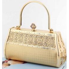 กระเป๋าคลัชออกงาน กระเป๋าถือผู้หญิงแฟชั่นเกาหลีเข้าชุดราตรีงานแต่ง นำเข้า ลายดอกเดซี่สีทอง - พร้อมส่งAP2543 ราคา1500บาท