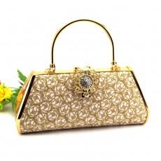 กระเป๋าคลัชออกงาน กระเป๋าถือผู้หญิงแฟชั่นเกาหลีเข้าชุดราตรีงานแต่ง นำเข้า ลายคริสตัลบอลสีทอง - พร้อมส่งAP2546 ราคา1500บาท