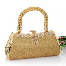 กระเป๋าคลัชออกงาน กระเป๋าถือผู้หญิงแฟชั่นเกาหลีเข้าชุดราตรีงานแต่ง นำเข้า เนื้อทรายสีทอง - พร้อมส่งAP2547 ราคา1500บาท [หมดค่ะ]