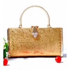 กระเป๋าคลัชออกงาน กระเป๋าถือผู้หญิงแฟชั่นเกาหลีเข้าชุดราตรีงานแต่ง นำเข้า ลายไม้สีทอง - พร้อมส่งAP2548 ราคา1500บาท [หมดค่ะ]