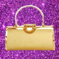 กระเป๋าคลัชออกงาน กระเป๋าถือผู้หญิงแฟชั่นเกาหลีหรูหราเข้าชุดราตรีและงานแต่ง นำเข้า สีทอง - พร้อมส่งAP2553 ราคา1500บาท