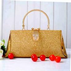 กระเป๋าคลัชออกงาน กระเป๋าถือผู้หญิงแฟชั่นเกาหลีหรูหราเข้าชุดราตรีและงานแต่ง นำเข้า สีทอง - พร้อมส่งAP2554 ราคา1500บาท