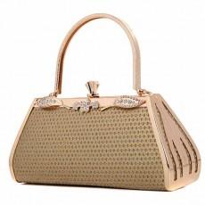 กระเป๋าคลัชออกงาน กระเป๋าถือผู้หญิงแฟชั่นเกาหลีเข้าชุดราตรีงานแต่ง นำเข้า กลิ้ตเตอร์สีทอง - พร้อมส่งAP2572 ราคา1900บาท