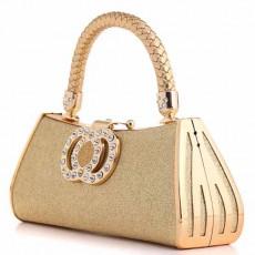 กระเป๋าคลัชออกงาน แบบถือผู้หญิงแฟชั่นเกาหลีเข้าชุดราตรีงานแต่ง นำเข้า สีทอง - พร้อมส่งAP2574 ราคา1900บาท