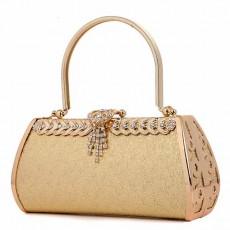 กระเป๋าคลัชออกงาน กระเป๋าถือคริสตัลผู้หญิงแฟชั่นเกาหลีเข้าชุดราตรีงานแต่ง นำเข้า สีทอง - พร้อมส่งAP2577 ราคา1900บาท