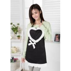ผ้ากันเปิ้อนใส่ทำอาหารเข้าครัวรูปหัวใจผ้าดีมาก ซักได้ นำเข้า พร้อมส่งBE0036 ราคา140บาท