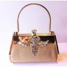 กระเป๋าคลัชออกงาน กระเป๋าถือผู้หญิงแฟชั่นเกาหลีหรูหราเข้าชุดราตรีและงานแต่ง นำเข้า สีทอง - พร้อมส่งIS1004 ราคา1500บาท [หมดค่ะ]