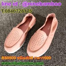 รองเท้าหนังแท้เพื่อสุขภาพแฟชั่นเกาหลีหัวมนสวมใส่สบาย SIZE38 นำเข้า พร้อมส่งรหัสBS0500