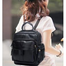 กระเป๋าเป้สะพาย แฟชั่นเกาหลี สวยอินเทรนด์ขนาดกำลังดีน่ารัก นำเข้า สีดำ - พร้อมส่งBLB8713 ราคา900บาท