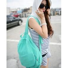กระเป๋าเป้ผ้า สะพายหลังแฟชั่นเกาหลีน่ารักแบบผู้หญิง นำเข้า สีเขียว - พร้อมส่งBBB0981 ราคา850บาท