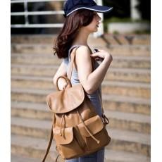 กระเป๋าเป้ แฟชั่นเกาหลีสะพายสวยเท่ทุกโอกาสหนังดีมาก นำเข้า สีกากี - พร้อมส่งBBB999 ราคา950บาท [หมดค่ะ]