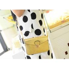 กระเป๋าสีทอง ใบเล็กใช้ออกงานสะพายได้ถือสวยสไตล์แฟชั่นเกาหลี นำเข้า - พร้อมส่งBLB2730 ราคาลดพิเศษ