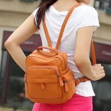 กระเป๋าเป้ แฟชั่นเกาหลีสะพายหลังสวยอินเทรนด์น่ารัก นำเข้า สีน้ำตาล - พร้อมส่งBLB8713 ราคา800บาท