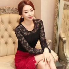 เสื้อลูกไม้แขนยาวสีดำ แฟชั่นเกาหลีใส่ออกงานพิธีสวยหรูหราดีไซน์ใหม่ นำเข้า ไซส์2XL - พร้อมส่งBM2706 ราคา1250บาท