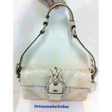 COACH Soho Signature Monogram Canvas & Leather Braided Flap Shoulder Handbag ของแท้มือสองจากอเมริกาพร้อมส่ง ราคา2300บาท