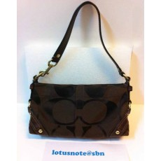 COACH Signature Carly Small Handbag Purse Brown Canvas&Leather ของแท้มือสองจากอเมริกา พร้อมส่ง ราคา2750บาท [หมดค่ะ]