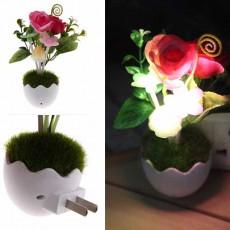 โคมไฟLEDรูปเห็ดดอกไม้หญ้ามีเซ็นเซอร์เสียบปลั๊กแสงเปลี่ยนสีอัตโนมัติตกแต่งคอนโดห้องนอนนั่งเล่น พร้อมส่งLED2 ราคา350บาท