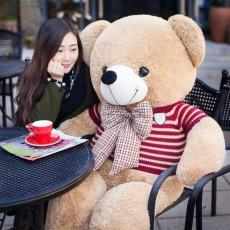 ตุ๊กตาหมีใส่เสื้อ2เมตร ตัวใหญ่อ้วนขนนุ่มแน่น ของขวัญพิเศษหรือใช้ในงานแต่งงาน สีน้ำตาล - พร้อมส่ง ราคา6500บาท