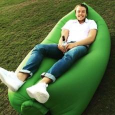 โซฟาลมพกพา Hangout Bed จะคอนโด ทะเล ท่องเที่ยวเบาใช้ง่ายไม่ต้องสูบลม - พร้อมส่ง สีเขียว สไตล์Lamzac ราคา 1150 บาท