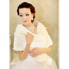 ผ้าคลุมไหล่เสื้อคลุมไหล่ขนเฟอร์มีปกลูกไม้สวมคู่ชุดราตรีแฟชั่นเกาหลีหรูหรา นำเข้า สีขาว - พร้อมส่งYA058 ราคา880บาท