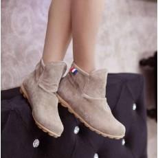 รองเท้าผ้าใบ Sneakers หุ้มข้อแฟชั่นเกาหลี นำเข้า ไซส์34ถึง39 สีเบจ - พรีออเดอร์HS167-1 ราคา1250บาท