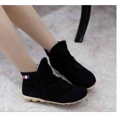 รองเท้าผ้าใบ Sneakers หุ้มข้อแฟชั่นเกาหลี นำเข้า ไซส์34ถึง39 สีดำ - พรีออเดอร์HS167-1 ราคา1250บาท