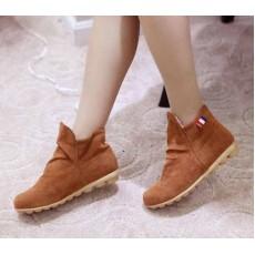 รองเท้าผ้าใบ Sneakers หุ้มข้อแฟชั่นเกาหลี นำเข้า ไซส์34ถึง39 สีน้ำตาล - พรีออเดอร์HS167-1 ราคา1250บาท