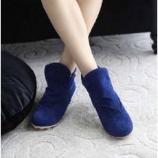 รองเท้าผ้าใบ Sneakers หุ้มข้อแฟชั่นเกาหลี นำเข้า ไซส์34ถึง39 สีน้ำเงิน - พรีออเดอร์HS167-1 ราคา1250บาท