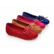 รองเท้าส้นเตี้ย หนังกลับแฟชั่นเกาหลีใหม่เพื่อสุขภาพ นำเข้า สีชมพู - พรีออเดอร์HS167-9 ราคา1285บาท [หมดค่ะ]