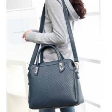 กระเป๋าสะพาย แฟชั่นเกาหลีผู้หญิงถือทำงานสไตล์หรูหนังสวยมาก นำเข้า สีน้ำเงิน - พรีออเดอร์IS0026 ราคา1390บาท