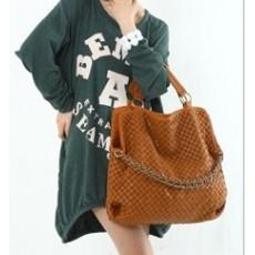 กระเป๋าสะพาย แฟชั่นเกาหลี หนังสาน นำเข้า สีน้ำตาล - พรีออเดอร์IS177 ราคา1050บาท