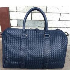 กระเป๋าเดินทางหนังแท้ สะพายและถือสายยาวได้หรูหนังสานใบใหญ่แฟชั่นแบรนด์ นำเข้า สีน้ำเงิน - พรีออเดอร์IS1008  ราคา4990บาท