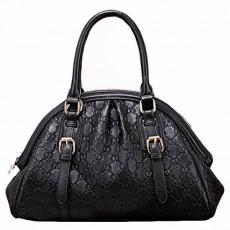 กระเป๋าหนังแท้ผู้หญิง สะพายและถือสายยาวได้หรูมากแฟชั่นแบรนด์ นำเข้าพิเศษ สีดำ - พร้อมส่งIS1009  ราคา3800บาท