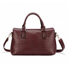 กระเป๋าหนังแท้ผู้หญิง สะพายและถือสายยาวหรูมากแฟชั่นแบรนด์ นำเข้าพิเศษ สีกาแฟ - พร้อมส่งIS1011  ราคา3800บาท
