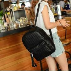กระเป๋าเป้ สะพายหลังหนังสานแฟชั่นเกาหลีผู้หญิงรุ่นใหม่ล่าสุดหนังดีมาก นำเข้า สีดำ - พร้อมส่งIS1019 ราคา900บาท