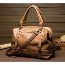 กระเป๋าหนังแท้ผู้หญิง ดีไซน์แบรนด์ทั้งสะพายและถือทำงานหรูแฟชั่นใหม่ นำเข้า สีน้ำตาล - พรีออเดอร์IS1020 ราคา3500บาท