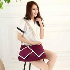 กระเป๋าสะพายผ้าไนลอน แฟชั่นเกาหลีผู้หญิงใบใหญ่มีสายยาวใส่ของได้3ช่อง นำเข้า สีม่วง - พรีออเดอร์IS1026A ราคา1250บาท