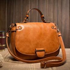 กระเป๋าหนังแท้ผู้หญิง ดีไซน์แบรนด์ทั้งสะพายและถือทำงานหรูแฟชั่นใหม่ นำเข้า สีน้ำตาล - พร้อมส่งIS1042 ราคา3900บาท