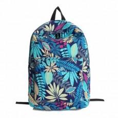 กระเป๋าเป้ผ้า สะพายหลังแฟชั่นเกาหลีน่ารักแบบผู้หญิงลายใบไม้สวย นำเข้า สีฟ้า - พร้อมส่งIS1053 ราคา750บาท