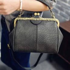 กระเป๋าสะพาย แฟชั่นเกาหลีแนววินเทจถือและมีสายยาวรุ่นใหม่สวย นำเข้า สีเทา - พรีออเดอร์IS1058