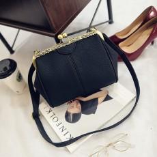 กระเป๋าสะพาย แฟชั่นเกาหลีแนววินเทจถือและมีสายยาวรุ่นใหม่สวย นำเข้า สีดำ - พรีออเดอร์IS1058