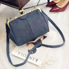 กระเป๋าสะพาย แฟชั่นเกาหลีแนววินเทจถือและมีสายยาวรุ่นใหม่สวย นำเข้า สีน้ำเงิน - พรีออเดอร์IS1058