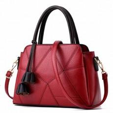 กระเป๋าหนังทำงาน พู่หนังมี3ช่องปิดซิปทั้งสะพายและถือแฟชั่นใหม่ นำเข้า สีแดง - พรีออเดอร์IS1067 ราคา1450บาท