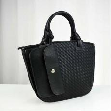 กระเป๋าหนังแท้ผู้หญิง หนังสานสวยถือหรูมากแฟชั่นแบรนด์ นำเข้าพิเศษ สีดำ - พรีออเดอร์IS1069  ราคา4900บาท